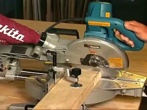 miter saw cutting